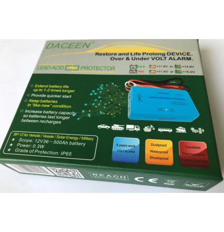 Battery protector (Desulfator, Reconditioner, Restorer) for 12V car batteries